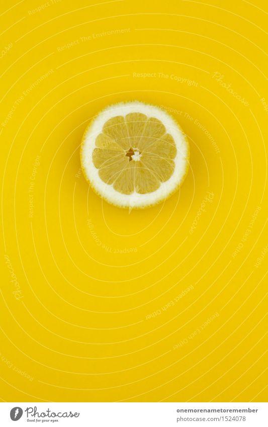 Zitrone... Zack! gelb Kunst Design ästhetisch verrückt graphisch Scheibe Kunstwerk Zitrone knallig sauer vitaminreich Vitamin C zitronengelb Zitronensaft Zitronenschale