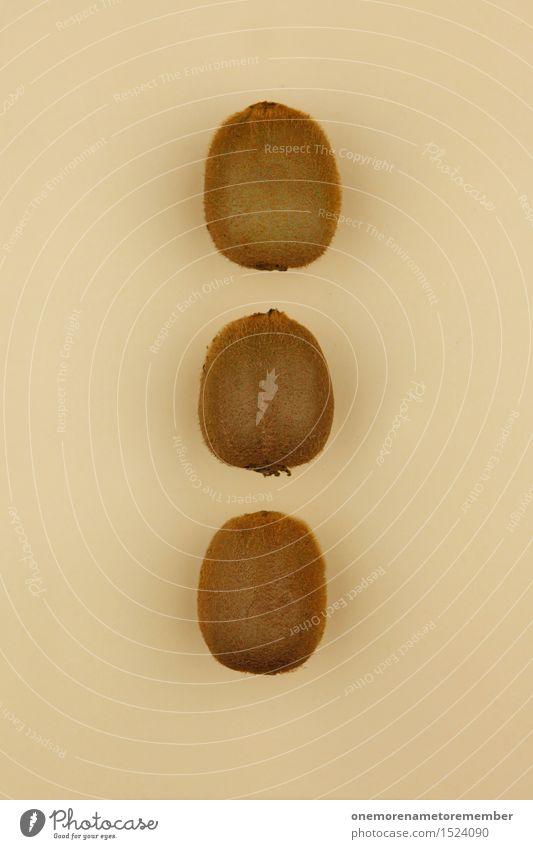 Kiwi Trio I Gesunde Ernährung Gesundheit Kunst Frucht Design Dekoration & Verzierung ästhetisch lecker Kunstwerk Symmetrie Hülle gestalten beige Südfrüchte