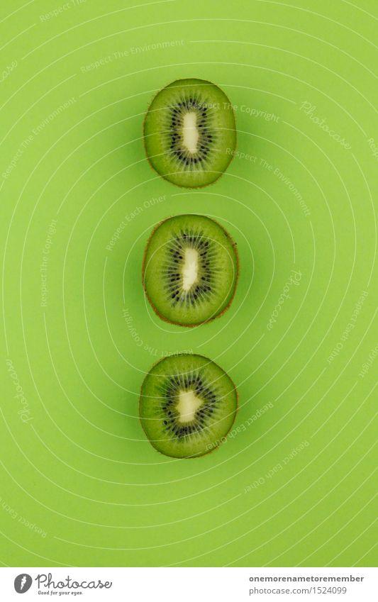 Kiwi-Dreier...Zack! grün Kunst Frucht ästhetisch lecker Reihe Kunstwerk Symmetrie vitaminreich Südfrüchte grasgrün
