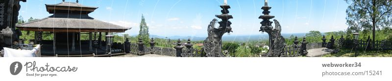 Muttertempel Ferne groß Horizont Indonesien Tor Panorama (Bildformat) Tempel Kloster Bali Los Angeles