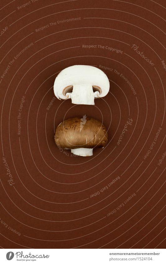 Endgegner halbiert Kunst Kunstwerk ästhetisch Pilz braun Teilung geteilt 2 Dekoration & Verzierung Pilzhut Champignons lecker Vegetarische Ernährung