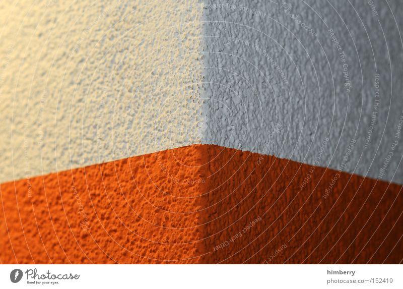 eckdesign Ecke Wand Fassade Mauer Farbe Anstrich Putz Bauwerk Gebäude Design Hintergrundbild Garage Detailaufnahme Industrie modern wandfarbe aussenfarbe