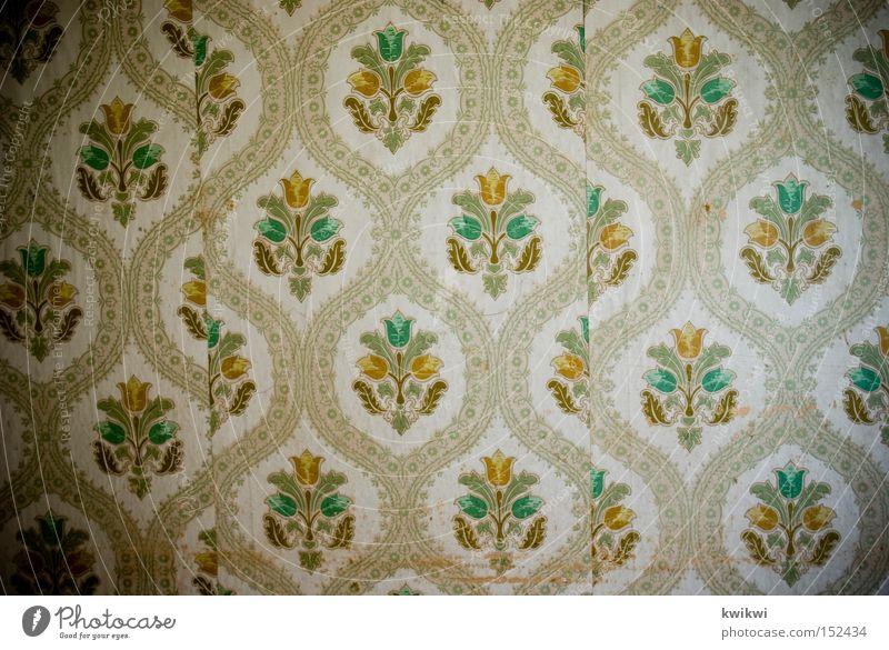 einfach nur tapete Tapete Wand alt verfallen Siebziger Jahre Sechziger Jahre Fünfziger Jahre Häusliches Leben