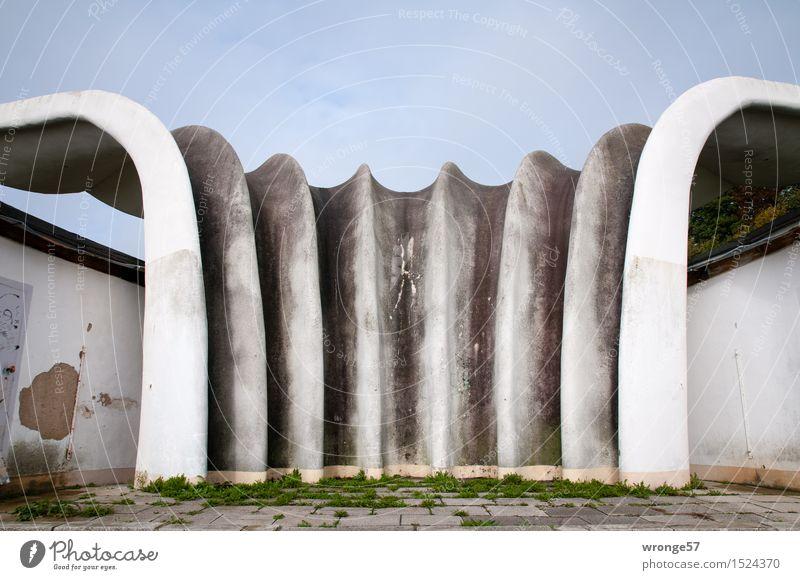 Historisch   Muschelschale Stadt alt blau grün weiß schwarz Wand Architektur Mauer grau außergewöhnlich Deutschland Fassade elegant ästhetisch Europa