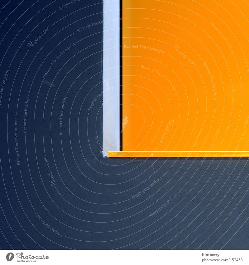 think orange Innenarchitektur Stil Holz Ecke Wand Fassade Farbe Farbstoff Bauwerk Design Hintergrundbild Qualität Kontrast schön Kunst Kunsthandwerk