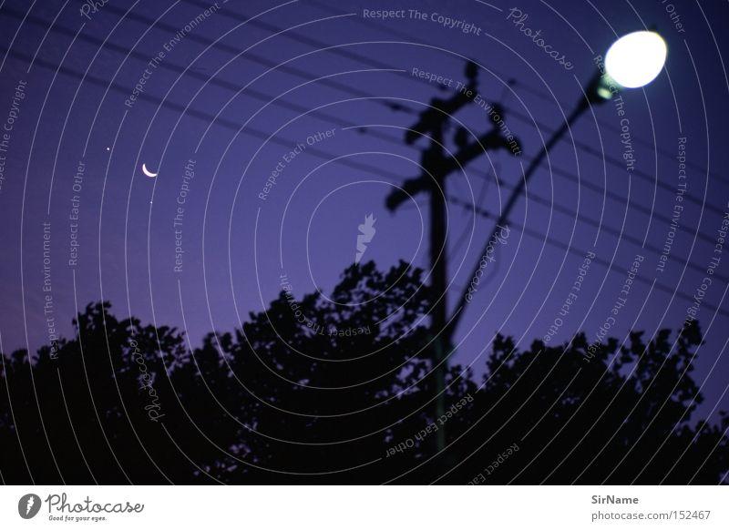 33 [one special night in Cape Town] Kabel Mond dunkel blau schwarz Planet Straßenbeleuchtung Laterne Afrika Himmelskörper & Weltall Restlicht Leica Summicron 90