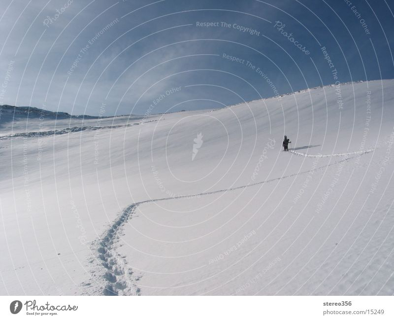 Wir machen den Weg Frei Schnee Berge u. Gebirge Alpen Skitour Bergwanderung