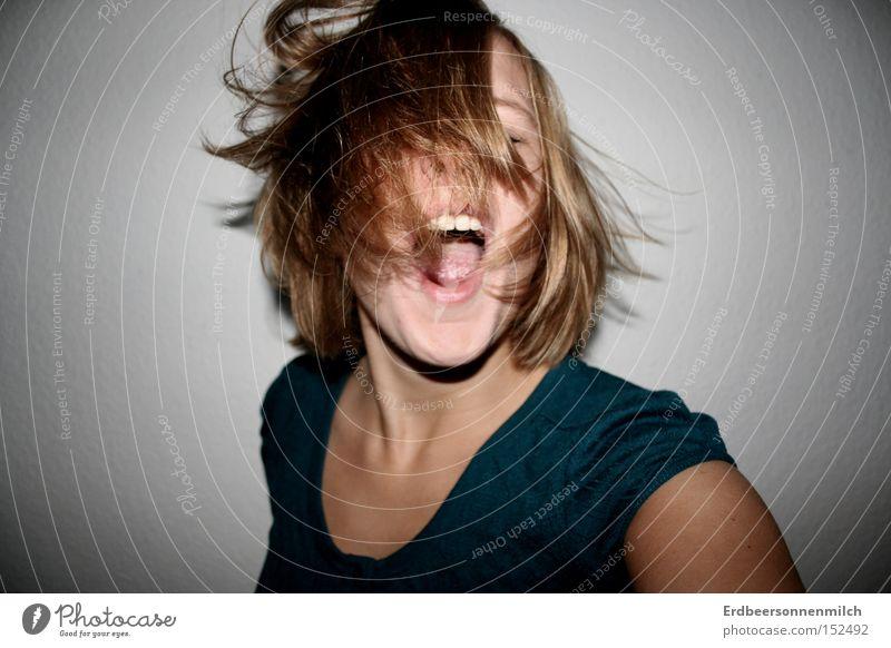 Gibt mir den Beat Mäh Freude Gefühle Haare & Frisuren Party Musik Feste & Feiern Tanzen Tanzveranstaltung Wut Behaarung schreien Bewegung frech
