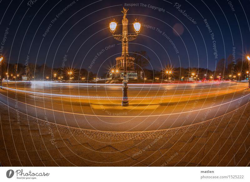 round Stadt blau weiß rot gelb Straße Architektur braun PKW Verkehr Platz fahren Bauwerk Wahrzeichen Denkmal Hauptstadt