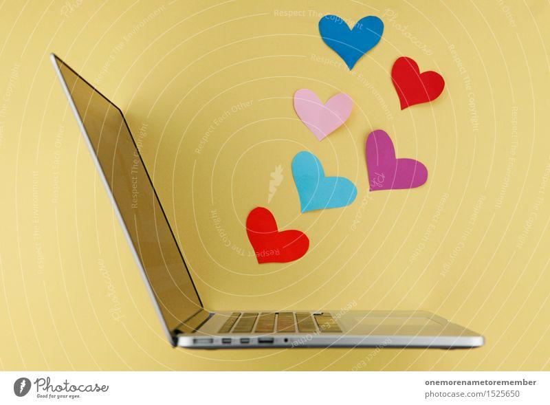 cyberlove Jugendliche Liebe Kunst Arbeit & Erwerbstätigkeit Design ästhetisch Technik & Technologie Kommunizieren Kreativität Herz Idee kaufen Netzwerk Internet Leidenschaft Verliebtheit