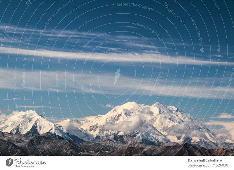 weiße Gipfel Wolken Schönes Wetter Eis Frost Schnee Schneefall Alpen Berge u. Gebirge Schneebedeckte Gipfel hoch kalt Abenteuer Ferien & Urlaub & Reisen