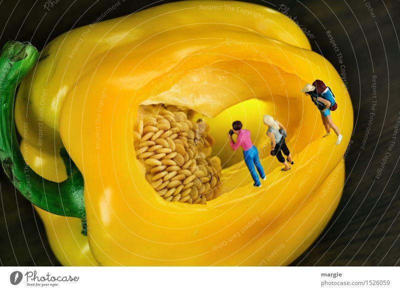 Miniwelten - Gelbe Paprikahöhle Mensch Frau Ferien & Urlaub & Reisen Jugendliche grün Junge Frau Erwachsene gelb feminin Gesundheitswesen Lebensmittel Tourismus