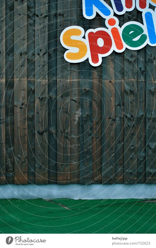 spielwiese Spielen Freude Schriftzeichen Schriftstück Typographie Entertainment Freizeit & Hobby Spielplatz Jahrmarkt mehrfarbig Kindergarten Kindheit