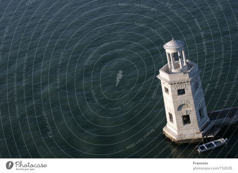 Leuchtturm auf San Giorgio Maggiore Wasser Meer Ferien & Urlaub & Reisen Wasserfahrzeug Turm Italien Hafen Venedig