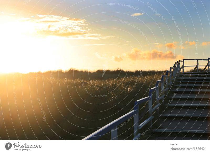 Sonnentreppe Natur Himmel Sonne Sommer Ferien & Urlaub & Reisen Freiheit träumen Wege & Pfade Landschaft Erfolg Ausflug Treppe Insel Tourismus Romantik Ziel