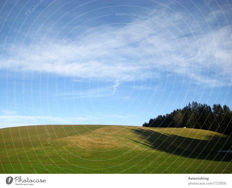 Wnidows - Hintergrund Natur Landschaft Himmel Wolken Horizont Herbst Wiese Wald Hügel blau grün Hintergrundbild Bodenbelag Schatten Kontrast Weide Ferne