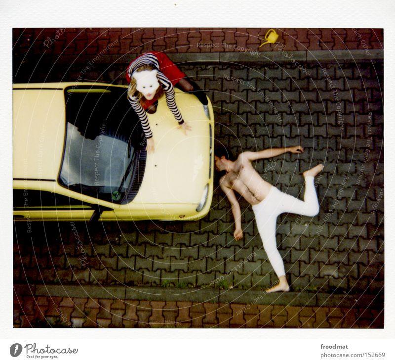 la chamandu Unterhose KFZ Katze Maske verkleiden lustig Humor Polaroid analog nackt Behaarung Hongkong Quadrat Lomografie Sportveranstaltung Konkurrenz Funsport