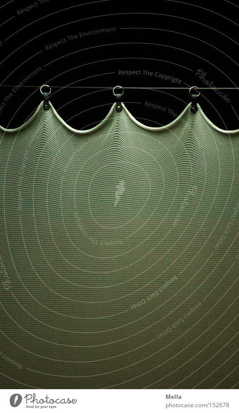 Sorgfalt Vorhang Haken Öse Stoff hängen Seil Reihe 3 Bogen gespannt Ordnung sorgfältig Kino Theater Dekoration & Verzierung Kreis straff