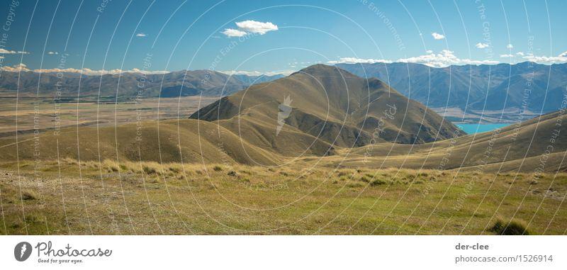 oh NZ Umwelt Natur Landschaft Pflanze Tier Erde Luft Himmel Sommer Klima Schönes Wetter Alpen Berge u. Gebirge Gipfel See entdecken Erholung