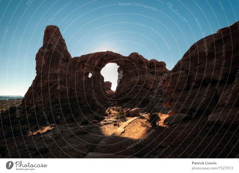 Arches National Park harmonisch Wohlgefühl Zufriedenheit Ferien & Urlaub & Reisen Ausflug Abenteuer Expedition Sommer Sonne Umwelt Natur Landschaft Himmel Klima