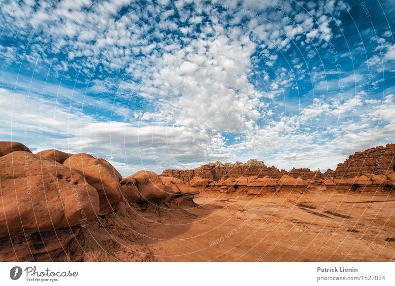 Blue Sky - Red Rock Himmel Natur Ferien & Urlaub & Reisen blau Sommer Landschaft Wolken Ferne Berge u. Gebirge Umwelt Wärme Freiheit Felsen Wetter Zufriedenheit