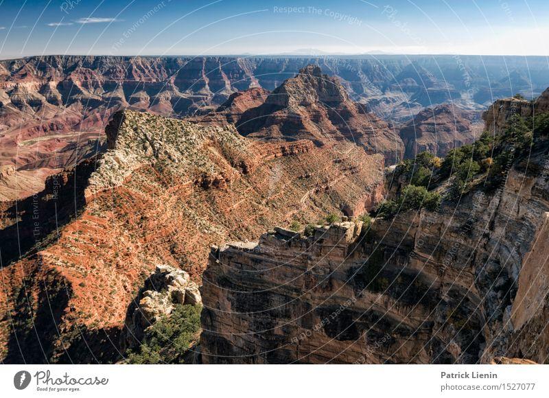 Grand Canyon Himmel Natur Ferien & Urlaub & Reisen Sommer Landschaft Ferne Berge u. Gebirge Umwelt Wärme Freiheit Felsen Tourismus Wetter Ausflug Klima
