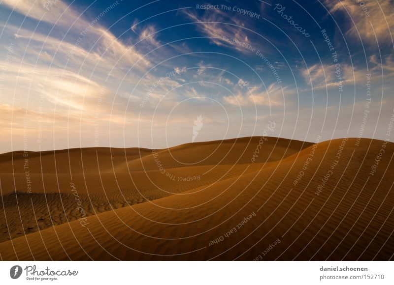 was zum aufwärmen Himmel blau rot Ferien & Urlaub & Reisen gelb Wärme Sand Wind Umwelt Erde Klima Wüste trocken Düne Expedition Naher und Mittlerer Osten