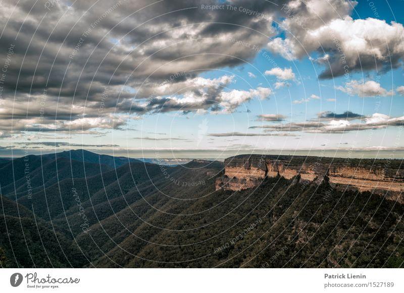 Blue Mountains schön Erholung Ferien & Urlaub & Reisen Tourismus Abenteuer Ferne Freiheit Sommer Berge u. Gebirge Natur Landschaft Himmel Wolken Klima