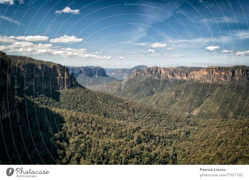 Blue Mountains schön Erholung Ferien & Urlaub & Reisen Abenteuer Sommer Berge u. Gebirge Umwelt Natur Landschaft Urelemente Erde Himmel Wolken Sonne Klima
