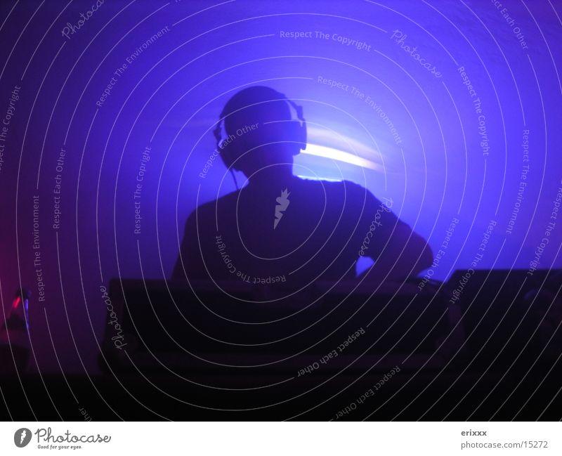 CLUB DJ Club Diskjockey Party Abend Licht Fototechnik blau