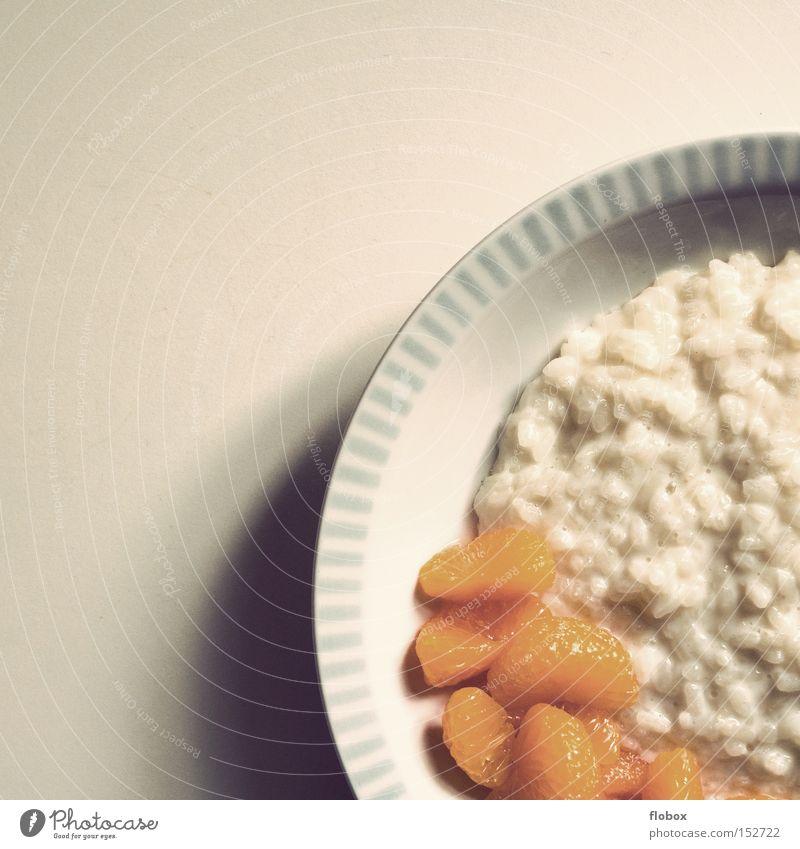 Ich geb' ne Runde..II Ernährung Frucht Speise süß Süßwaren Appetit & Hunger Dessert Reis Vegetarische Ernährung Milcherzeugnisse Mandarine Brei Milchreis Milchreis