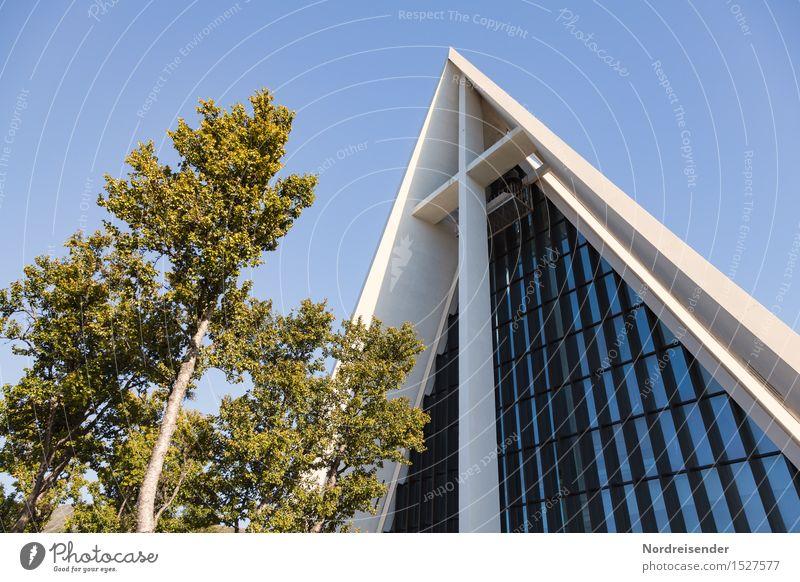 Eismeerkathedrale Ferien & Urlaub & Reisen Stadt Baum Architektur Religion & Glaube Gebäude Fassade elegant modern Glas Kirche Beton Kultur Schönes Wetter Freundlichkeit Bauwerk
