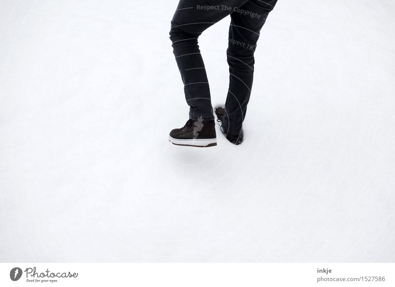 step Mensch Kind Jugendliche Mann weiß Junger Mann Winter 18-30 Jahre Erwachsene Leben Schnee Stil Lifestyle Beine Fuß