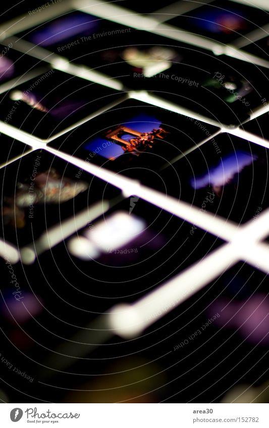 Erinnerung im Licht Dia mehrfarbig Unschärfe Ferien & Urlaub & Reisen Leuchttisch hell weiß dunkel Makroaufnahme Nahaufnahme Fotografie Unschärfeverteilung