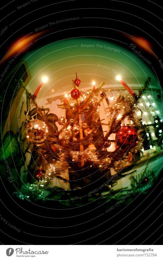 oh tannenbaum... Weihnachtsbaum Weihnachten & Advent Kerze Feste & Feiern Christbaumkugel Abend Dezember Winter besinnlich harmonisch Fischauge