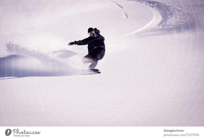 Spry Mensch Natur Freude Winter Berge u. Gebirge Schnee Sport Lifestyle Glück maskulin ästhetisch Schönes Wetter fahren sportlich Sportler Snowboard