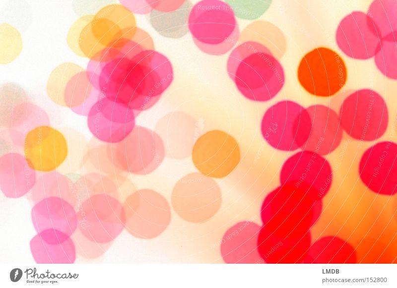 Blubber-Punkte für Mädchen rosa gelb Warme Farbe mehrfarbig Fröhlichkeit Hintergrundbild rot Dekoration & Verzierung Fleck Confetti orange
