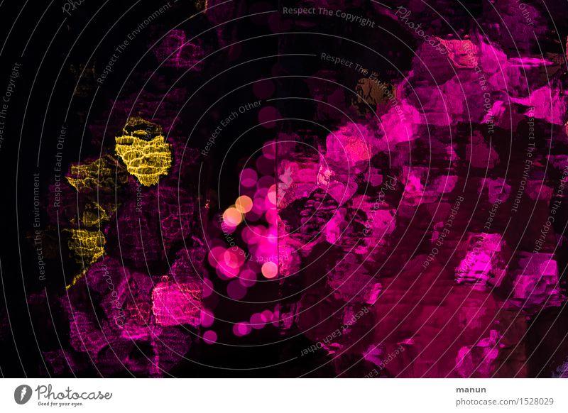 Lichtflecken rot schwarz gelb Feste & Feiern Party Stimmung rosa Design glänzend leuchten Dekoration & Verzierung gold Fröhlichkeit verrückt Tanzen fantastisch