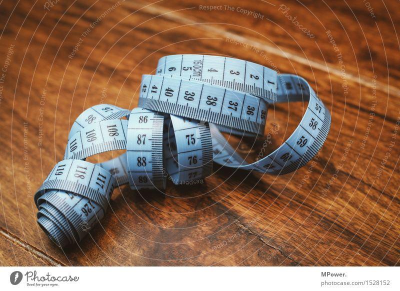 maßband Arbeit & Erwerbstätigkeit Beruf Handwerker Arbeitsplatz 1 blau braun Maßband Schneider Schneidern Nähen messen Diät Zentimeter Millimeter mehrfarbig