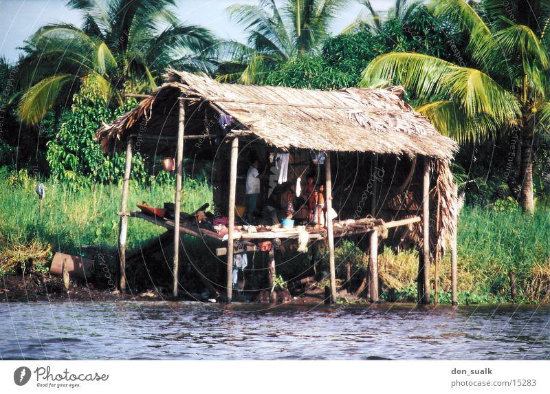 Hütte auf Stelzen Fluss Pfosten Venedig Südamerika Venezuela Indio