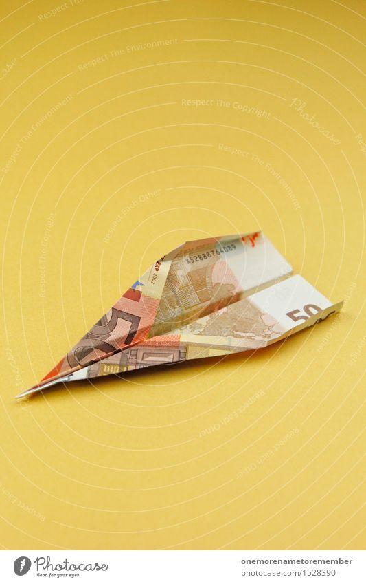 Euro: Wenn Geld fliegen kann... Kunst Kunstwerk ästhetisch Business Europa Eurozeichen Euroschein Geldscheine Geldnot Geldgeschenk Geldgeber Geldkapital