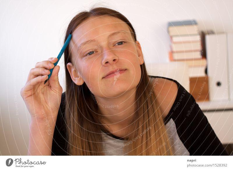 kratz, kratz, denk, denk Bildung Schule lernen Schüler maskulin Junge Frau Jugendliche 1 Mensch 13-18 Jahre Denken schreiben träumen authentisch Gelassenheit