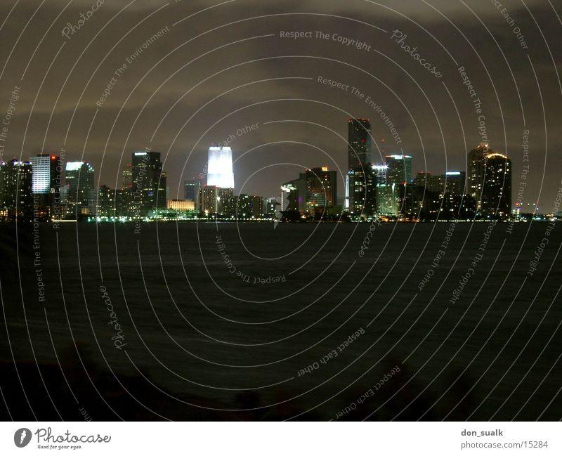 Miami Skyline Wasser Florida Nordamerika