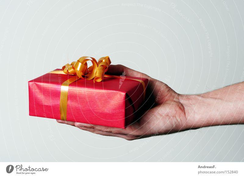 Bitteschön Geschenk schenken geben Weihnachten & Advent Weihnachtsgeschenk Überraschung Geburtstag Geburtstagsgeschenk Hand Schleife danke schön Entschuldigung