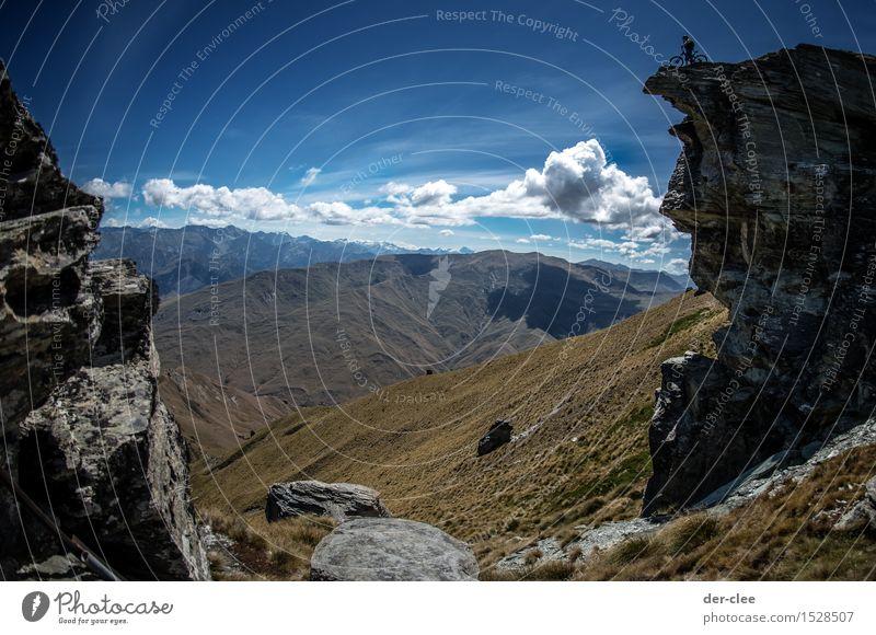 Ausblick Himmel Natur Ferien & Urlaub & Reisen Mann Sommer Sonne Landschaft Wolken Tier Ferne Berge u. Gebirge Erwachsene Umwelt Sport Freiheit Luft