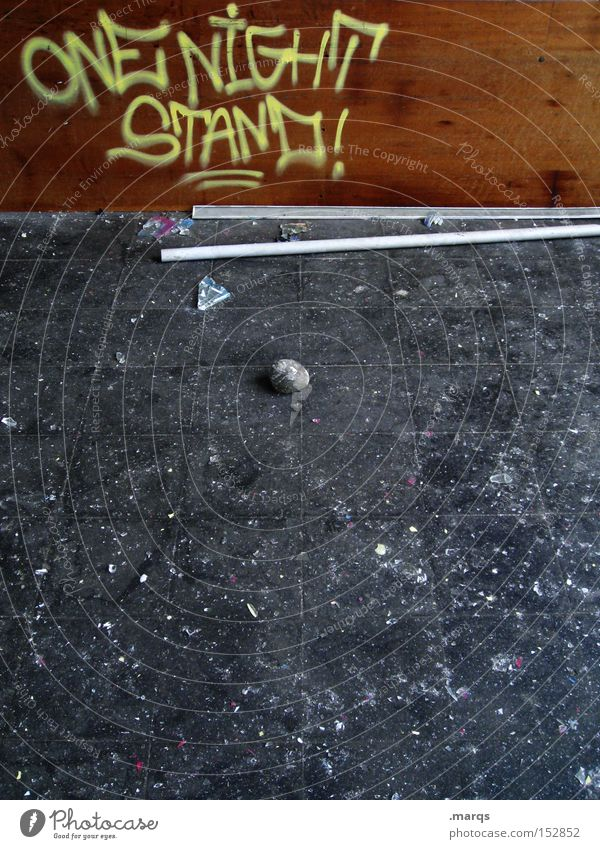 One Night Stand Freude Graffiti Gefühle Feste & Feiern Zusammensein außergewöhnlich dreckig Schriftzeichen schlafen einfach genießen Typographie schwanger