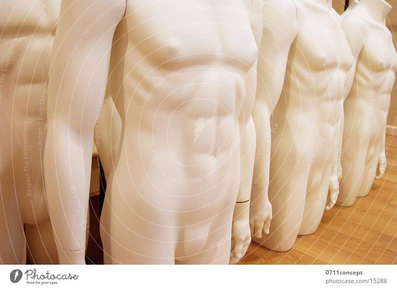 Schaufensterpuppe Man Mensch Mann nackt Stil Mode Zufriedenheit Haut Design Dekoration & Verzierung Wandel & Veränderung Industrie Bekleidung Stoff Gastronomie