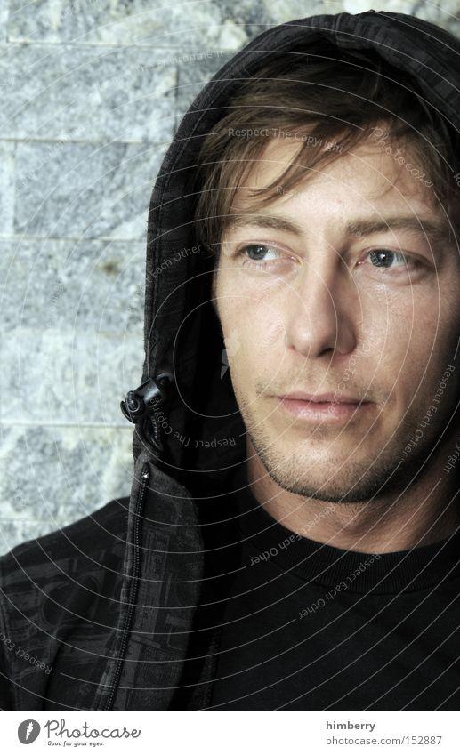 junge junge Mann Jugendliche Gesicht Auge Stil Porträt Gesichtsausdruck Pullover Kapuze Ausdruck Kapuzenpullover