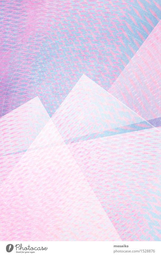 Raster 8 Lifestyle elegant Stil Design Kunst Gemälde Berge u. Gebirge Papier einfach gigantisch hell retro blau rosa weiß Farbe Kreativität Grunge