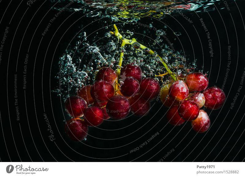 Trauben Lebensmittel Frucht Weintrauben Bioprodukte Vegetarische Ernährung Diät Trinkwasser Gesunde Ernährung frisch Gesundheit lecker nass natürlich rot